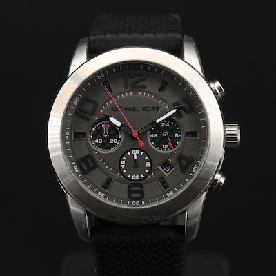 Michael Kors Chronograph with Date Stainless Steel Wristwatch