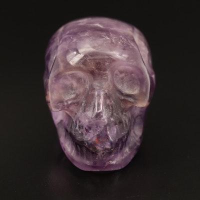 Carved Amethyst Skull