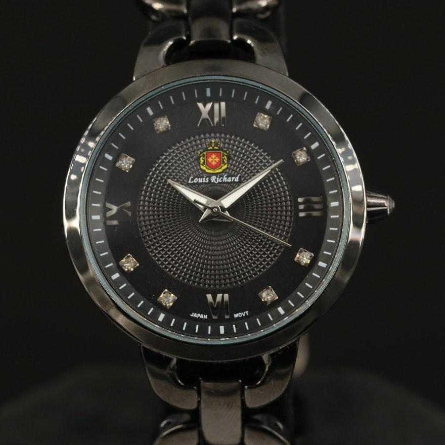 Louis Richard Felina Quartz Wristwatch with Crystals