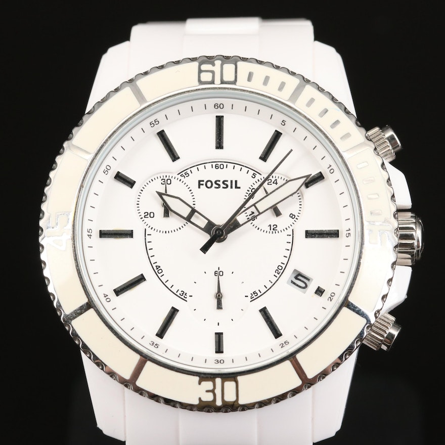 Fossil Chronograph with Date Stainless Steel Wristwatch