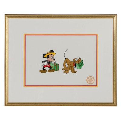 """Disney Sericel """"Mr. Mouse Takes A Trip,"""" 1940"""