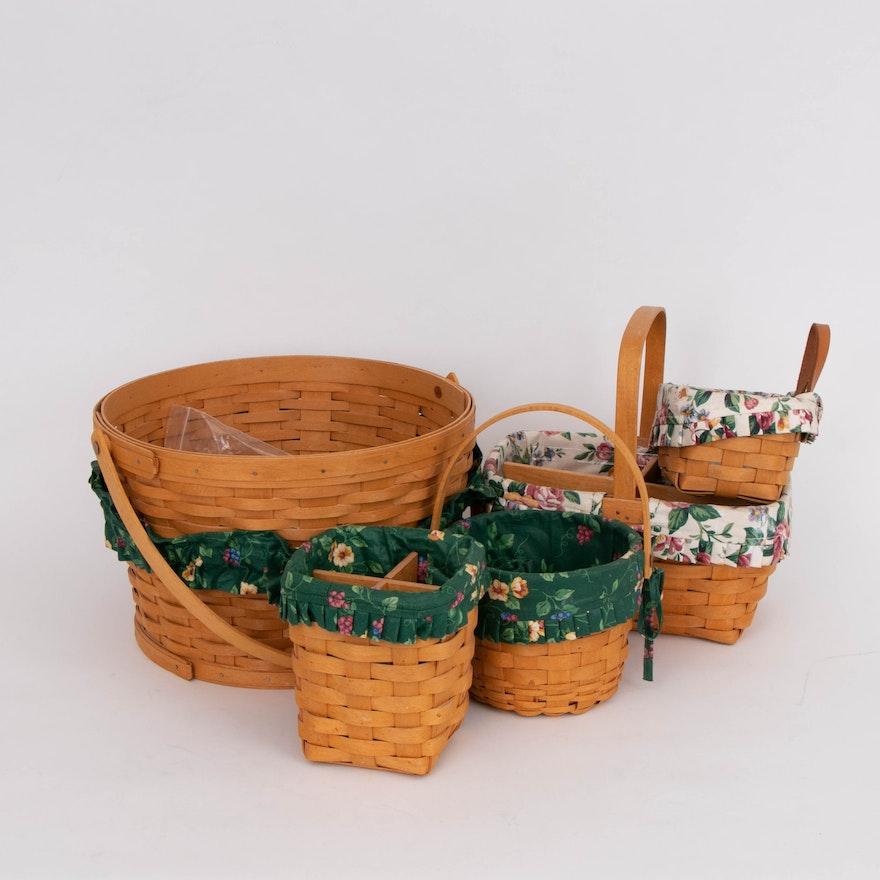 Longaberger Handwoven Maple Storage Basket, Utensil Baskets and Other Baskets