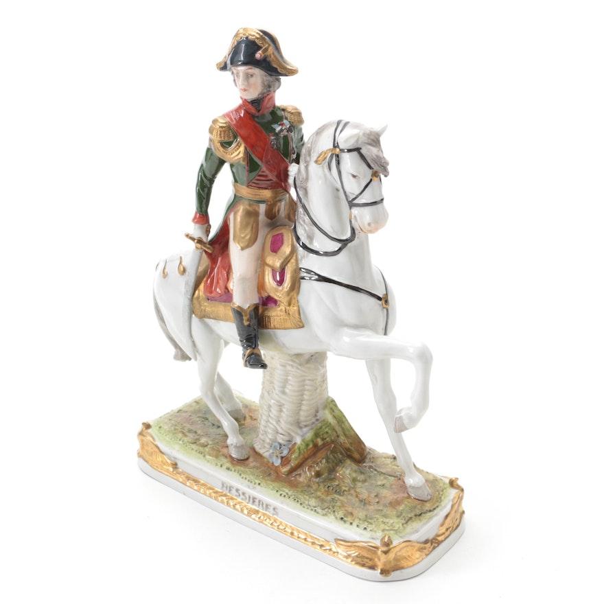 German Scheibe-Alsbach Porcelain Jean-Baptiste Bessieres Figurine