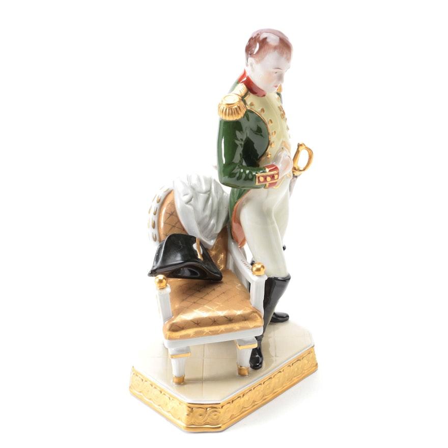 "Kämmer Volkstedt ""Napoleon I"" Porcelain Figurine, Late 20th Century"