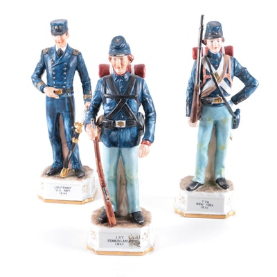 Hand Painted Royal Crown Arnart Civil War Figurines, Mid to Late 20th Century