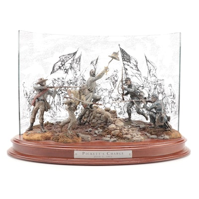 """The Franklin Mint """"Pickett's Charge, July 3, 1863"""" Diorama by Ron Spicer"""