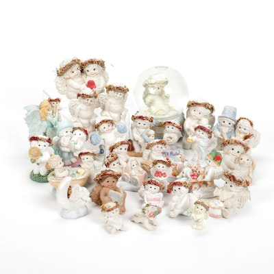 """Cast Art Industries """"Everything is Beautiful"""" Snow Globe and Figurines"""