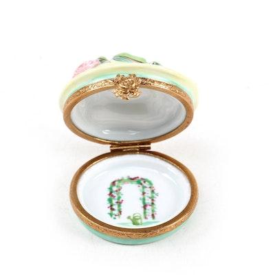 Hand-Painted Hat Form Porcelain Limoges Box