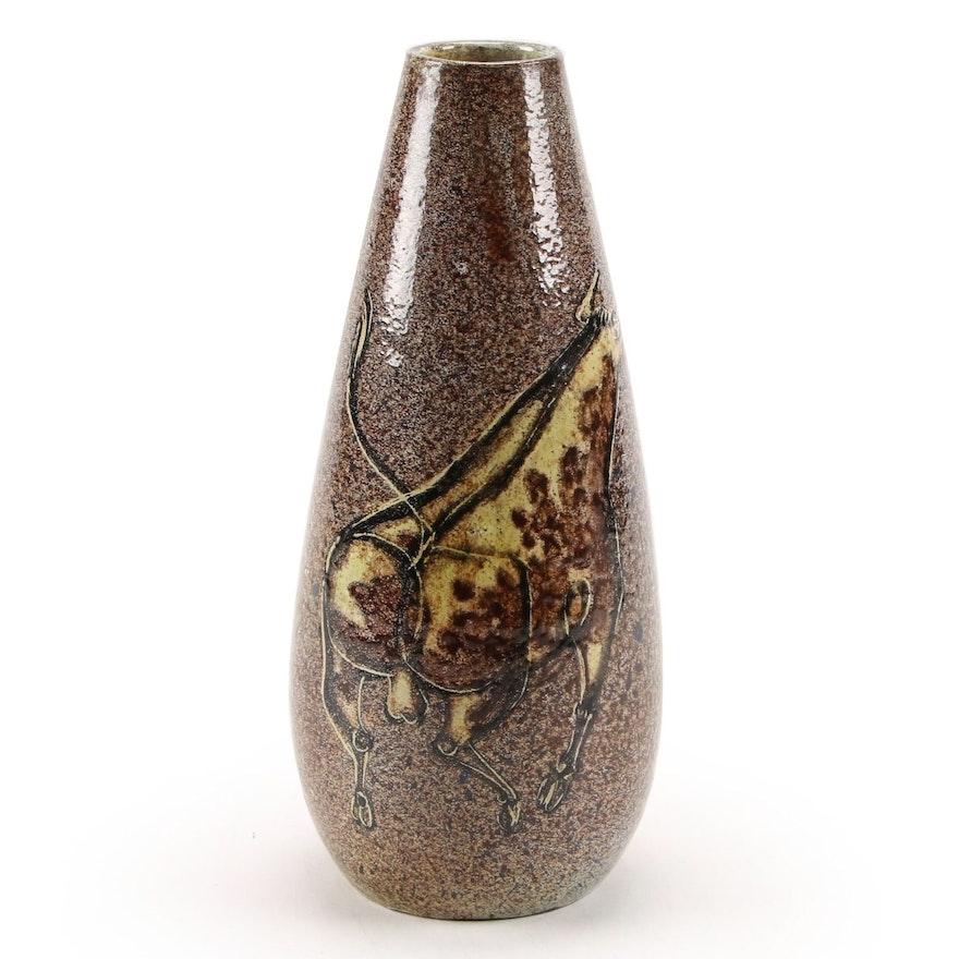 Alfaraz Handcrafted Spanish Pottery with Bull Motif, Mid-20th Century