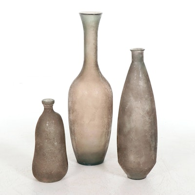 Spanish Vidrios San Miguel Recycled Glass Vases, Late 20th to 21st Century