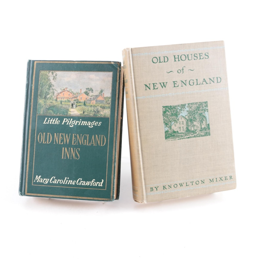 """""""Old Houses of New England"""" and """"Little Pilgrimages, Old New England Inns"""""""