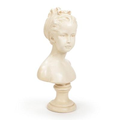 Plaster Bust of Marie-Louise Brogniart after Jean-Antoine Houdon