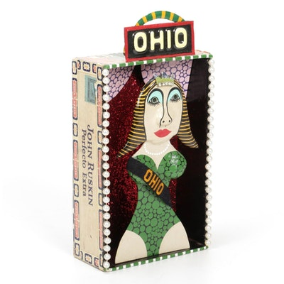 """Levent Isik Mixed Media Assemblage """"Miss Ohio,"""" 2014"""