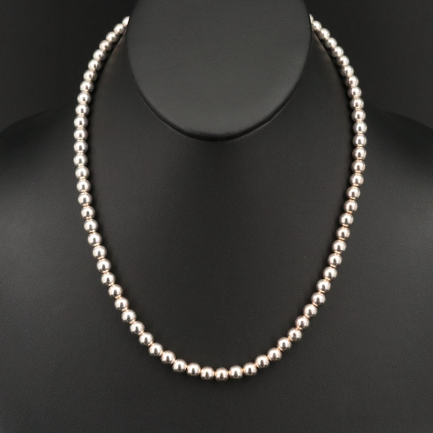 Sterling Beaded Necklace