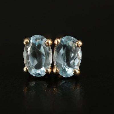 14K Topaz Stud Earrings
