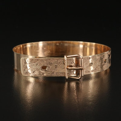 Victorian Engraved Jarretière Bracelet