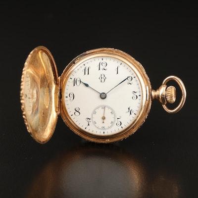 Longines 14K Hunting Case Pocket Watch, Antique