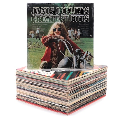 Janis Joplin, Jimmy Cliff, Grateful Dead, Patsy Cline and Other Vinyl LP Records