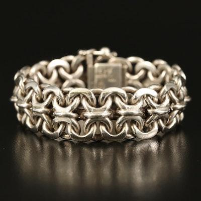 Mexican Sterling Bismark Chain Bracelet