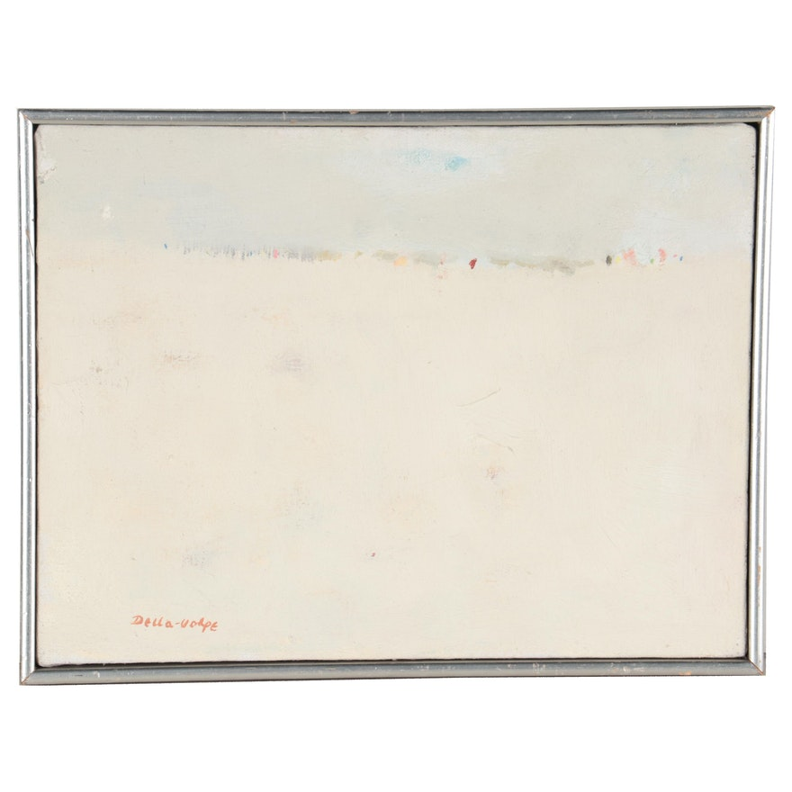 Ralph Della-Volpe Abstract Oil Painting, Mid to Late 20th Century