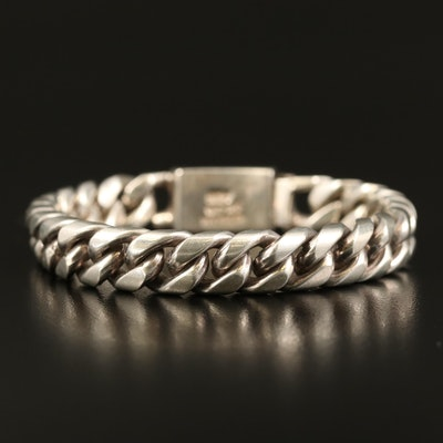 Mexican Sterling Curb Chain Bracelet