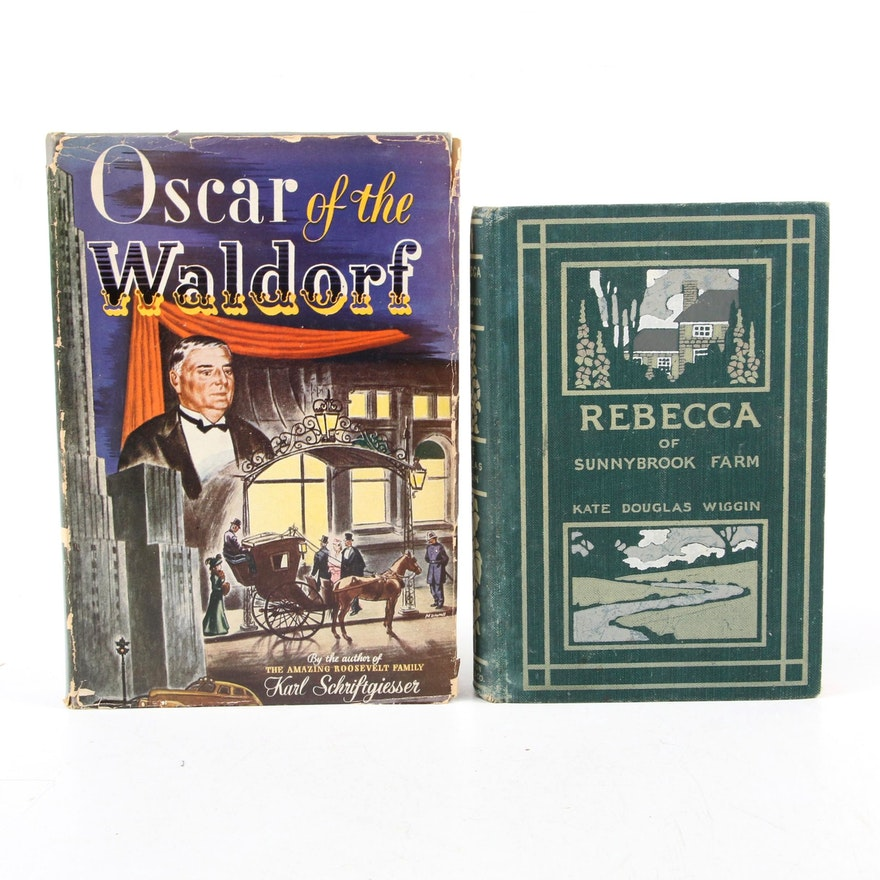 """Oscar Tschirky Signed First Edition """"Oscar of the Waldorf"""" and More"""