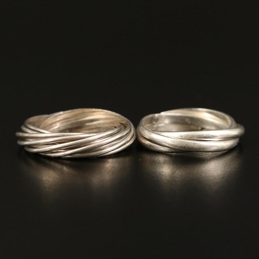 Sterling Rolling Rings