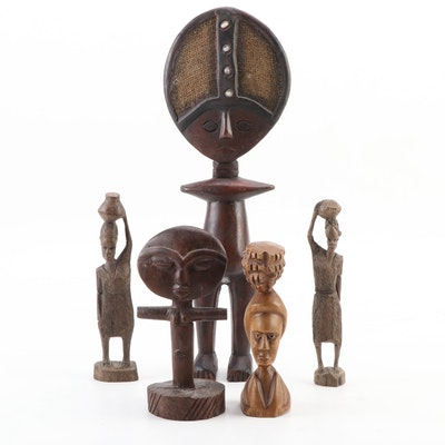 Ghana, Malawi and South African Bushcraft Wood Figures