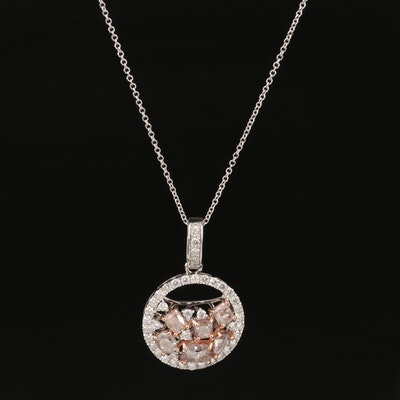 18K 2.25 CTW Diamond Pendant Necklace with GIA Report