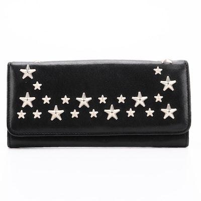 Jimmy Choo Star Studded Black Leather Wallet