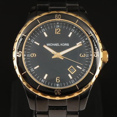Michael Kors Quartz with Date Stainless Steel Wristwatch