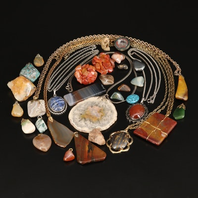 Jewelry Including Agate, Sodalite, Tiger Iron and Hematite