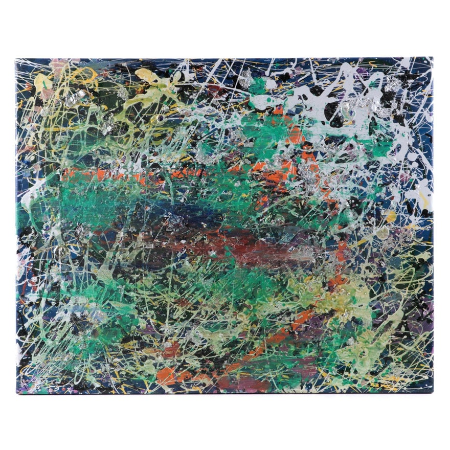 Abstract Mixed Media Acrylic Painting, 2018