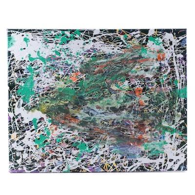 Abstract Mixed Media Acrylic Painting