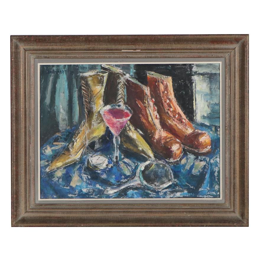 Emerson Burkhart Still Life Oil Painting, 1959