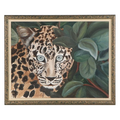 Oil Painting of a Leopard, 1987