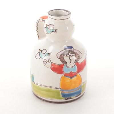 Giovanni DeSimone Italian Folk Art Ceramic Jug