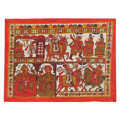 Indian Phad Scroll Painting