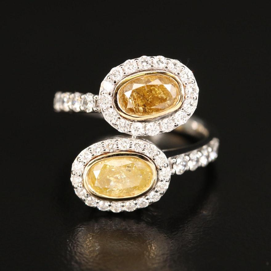 18K 2.88 CTW Diamond Bypass Ring
