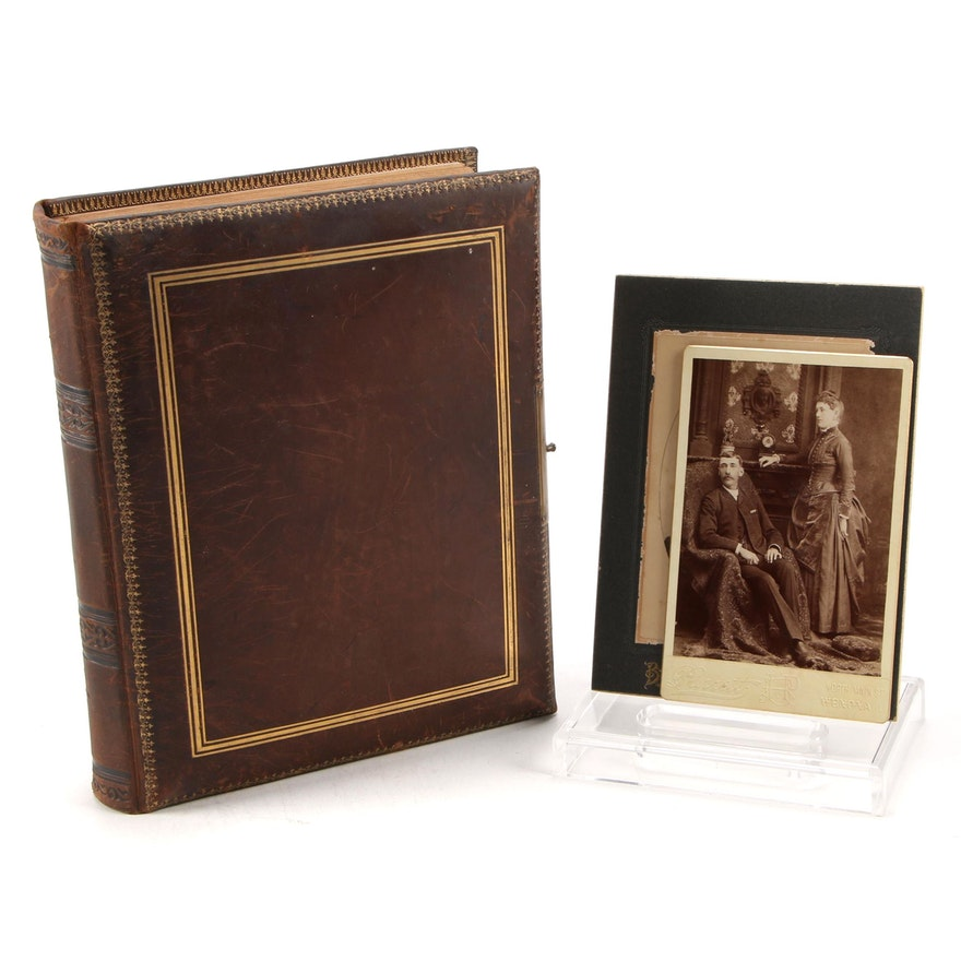 Silver Print Photograph Album Including Tintypes, Late 19th-Early 20th Century