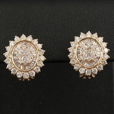 14K 2.44 CTW Diamond Earrings