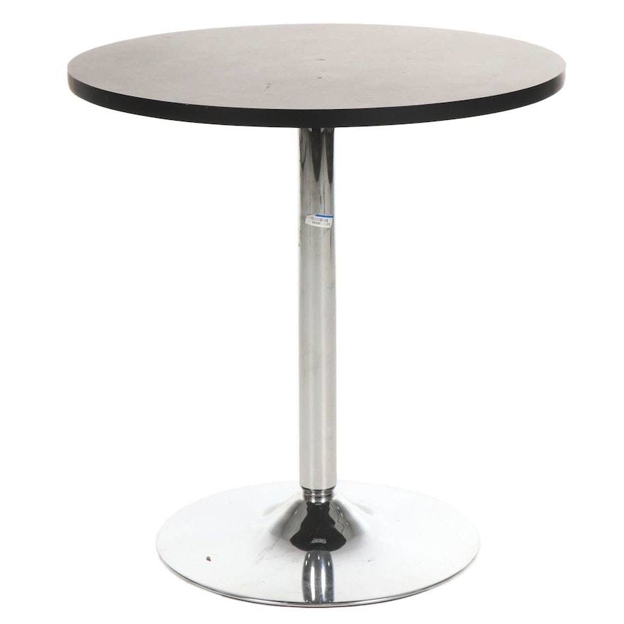 Contemporary Metal and Laminate Top Cocktail Table