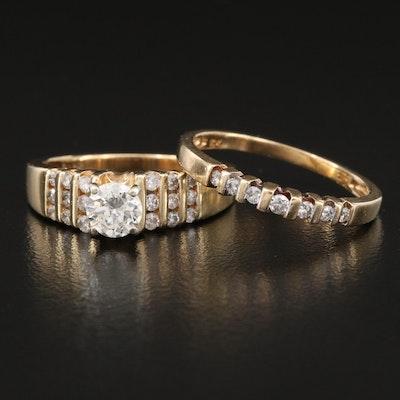 10K Diamond Ring Set