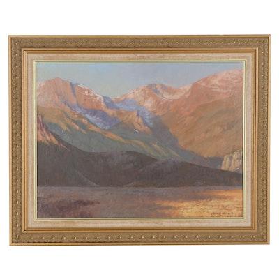Robert Salo Mountain Landscape Oil Painting, 1991