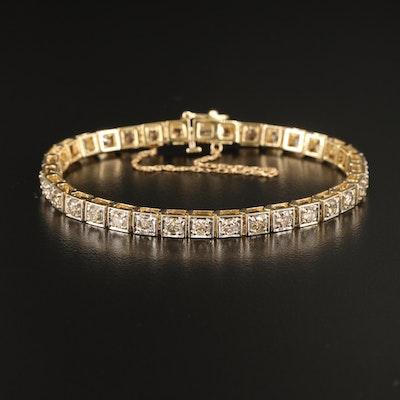 14K 4.08 CTW Diamond Line Bracelet