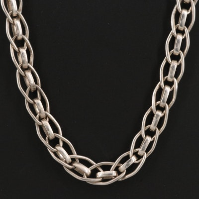 Sterling Silver Fancy Link Necklace