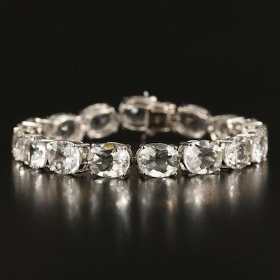 Sterling Quartz Line Bracelet