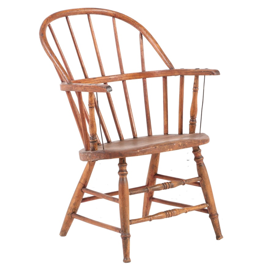 American Sack-Back Windsor Armchair, 19th Century
