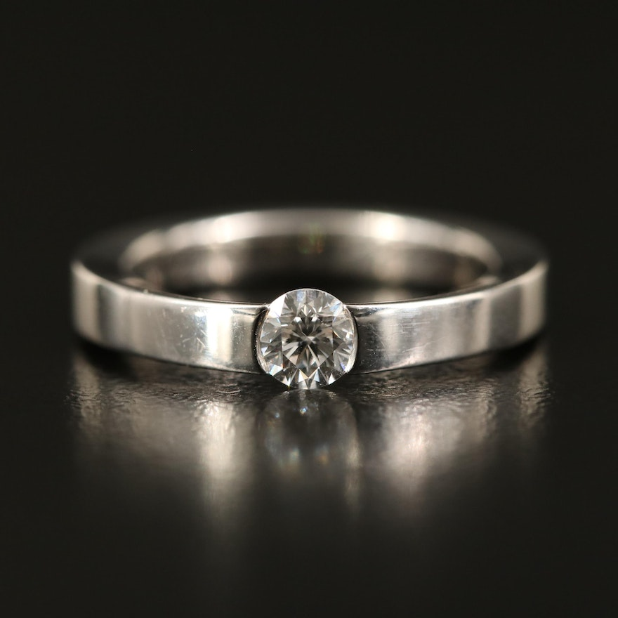 Cartier 0.30 CT Diamond Solitaire Ring