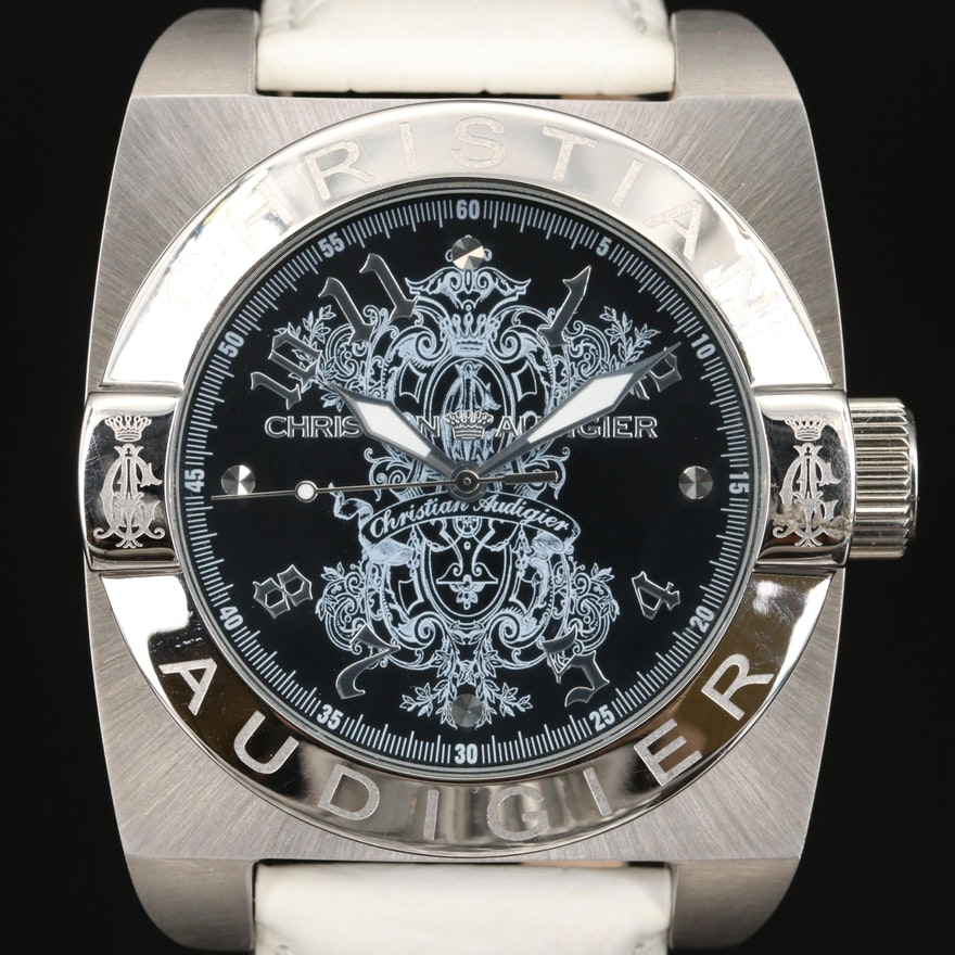 Christian Audigier Stainless Steel Wristwatch